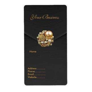 Avery Address Label Black Velvet Jewel