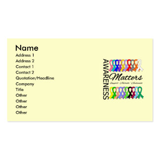 Awareness Matters Ribbons Of Cancer Pack Of Standard Business Cards
