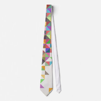 Awesome colourful retro geometric pattern tie