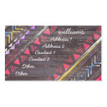 Awesome Cool trendy Aztec tribal Andes wood Pack Of Standard Business Cards