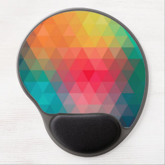Awesome cool trendy colourful triangles pattern gel mouse pad