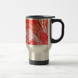 Awesome Red Yellow Abstract Design Image Stainless Steel Travel Mug