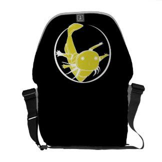 Axolotl circle bag (gold on black) messenger bag