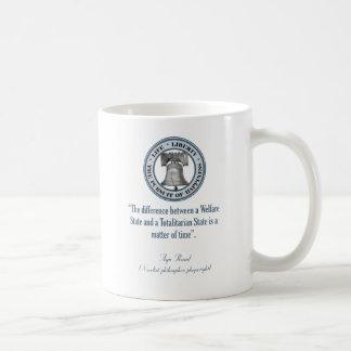 Ayn Rand Quote (Totalitarianism) Basic White Mug