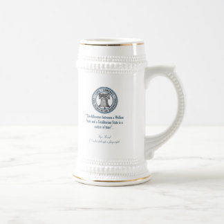 Ayn Rand Quote (Totalitarianism) Beer Steins