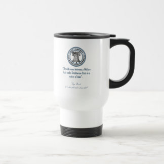 Ayn Rand Quote (Totalitarianism) Stainless Steel Travel Mug