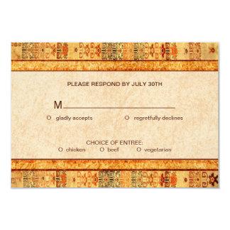 Aztec Fiesta Wedding Set RSVP 9 Cm X 13 Cm Invitation Card
