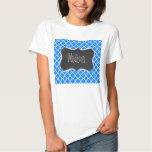 Azure Blue Quatrefoil; Retro Chalkboard T Shirts