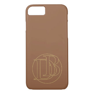 """B&D"" your monogram on ""iced coffee"" color iPhone 7 Case"