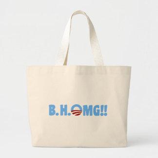 B.H.OMG!! Anti-Obama Jumbo Tote Bag
