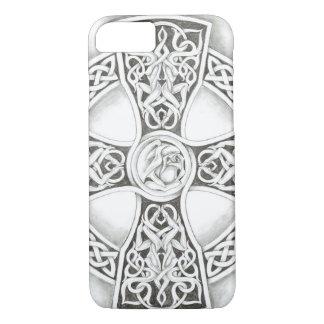 B&W Celtic Cross iPhone 7 Case