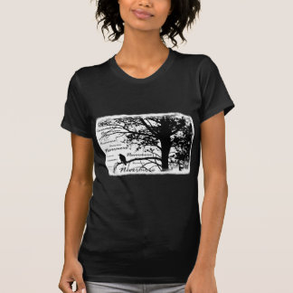 B&W Nevermore Raven Silhouette T-shirt