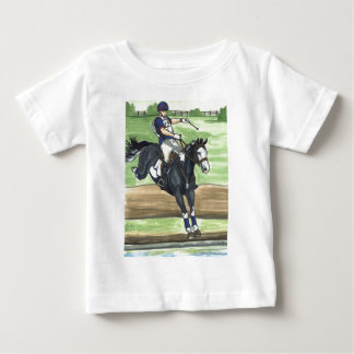 B&W Paint Horse XC into water Eventing Tees