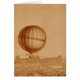 BA02284FAC01Z-First Manned Gas Balloon Flight Greeting Card