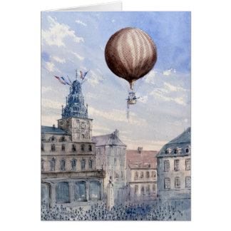 BA2303FAC01Z-Ascension Over Town Square Frameable  Greeting Card