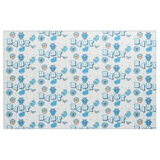 Baby Animal Pattern   Blue Polka Dots Fabric