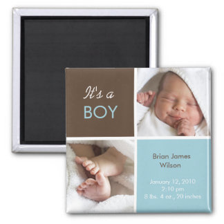 Baby Boy Announcement magnet