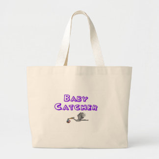 baby catcher jumbo tote bag