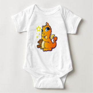 Baby dragon sucking its thumb - Orange Shirts