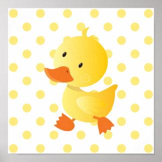Baby Duck Cute Nursery Art Poster