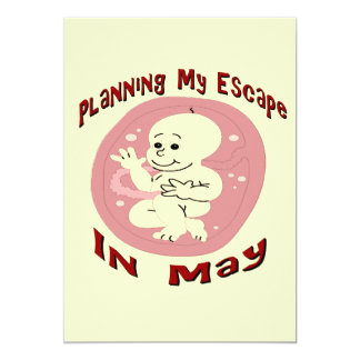 Baby Due In May 13 Cm X 18 Cm Invitation Card