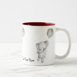 Baby Elephant with Balloon mug