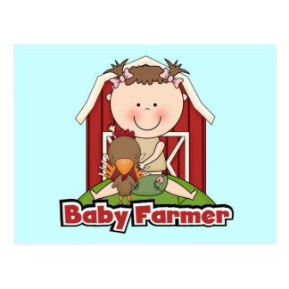 Baby Farmer With Rooster Tshirts and Gifts Postcard