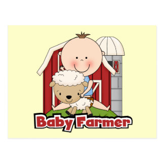 Baby Farmer With Sheep Tshirts and Gifts Postcard