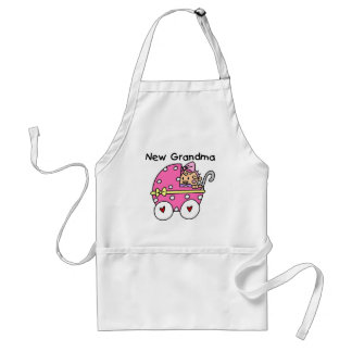Baby Girl New Grandma T-shirts and Gifts Standard Apron