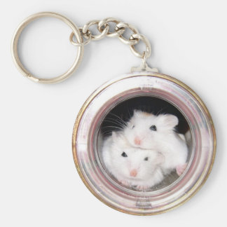 Baby hamsters (keychain) basic round button key ring