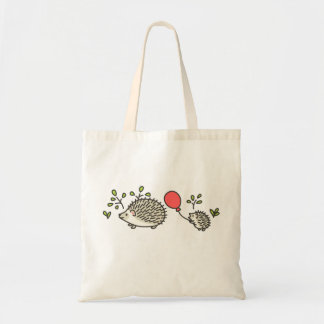 Baby Hedgehog's Red Balloon Budget Tote Bag