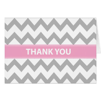 Baby in Pink Thank You Card