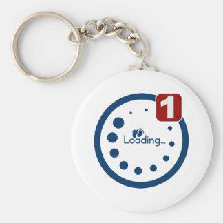 Baby Loading Plus Notification Basic Round Button Key Ring