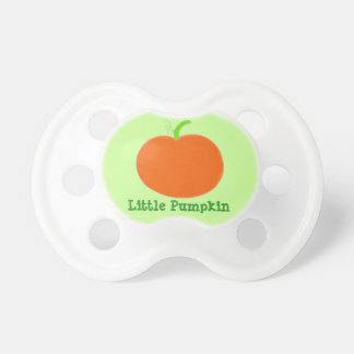 Baby Pacifier Orange Little Pumpkin