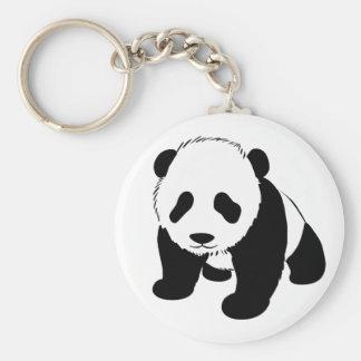 Baby Panda Basic Round Button Key Ring