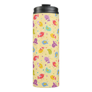 Baby pattern with cute birds thermal tumbler