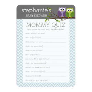 Baby Shower Game - Who Knows Mommy Best 13 Cm X 18 Cm Invitation Card
