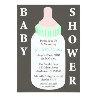 Baby Shower Invitation (Baby Bottle)