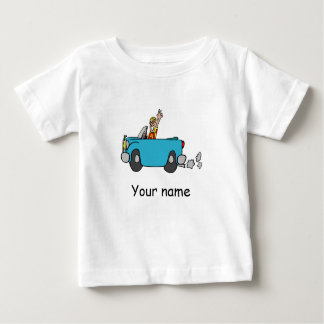 """Baby T-shirt knows """"Your name"""" with car"""