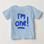 "BABY'S FIRST BIRTHDAY - ""I'M ONE!"" T-SHIRT"