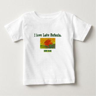 "Baby's Fish T-shirt ""I love Lake Eufau"" Alabama"