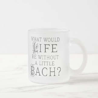 Bach Funny Gift Frosted Glass Mug