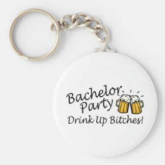 Bachelor Party Beer Jugs Basic Round Button Key Ring