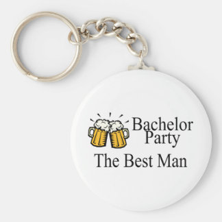 Bachelor Party Best Man Beer Jugs Basic Round Button Key Ring