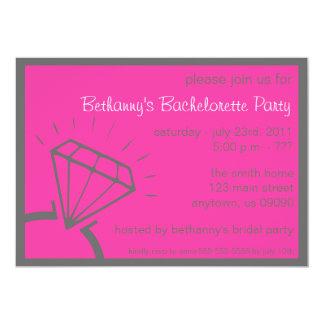 Bachelorette Party Invite (Diamond Ring Pink)