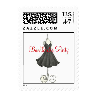 Bachlorette Party Dress Postage Stamp