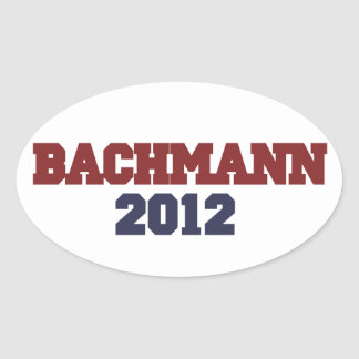 Bachmann 2012 oval sticker