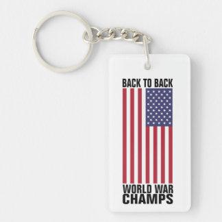 Back to Back World War Champs Single-Sided Rectangular Acrylic Key Ring