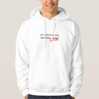 Bacon All Sorrows are Less Hooded Pullovers