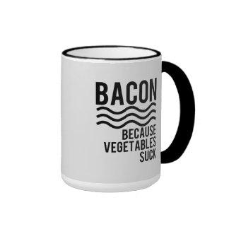 Bacon!! Because Vegetables Suck Ringer Mug